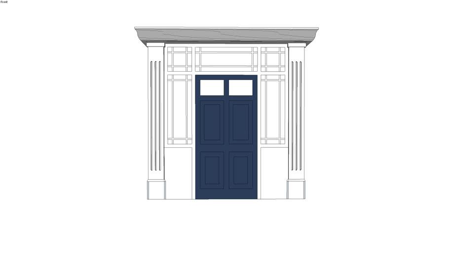 Regency Door and Combination Frame with Portico