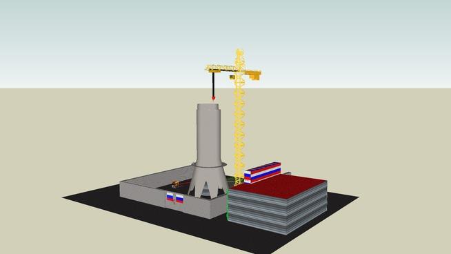 Construction ostankino tower
