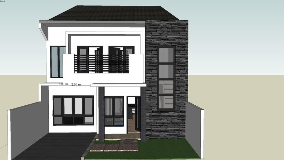 minimalis house 2 floor