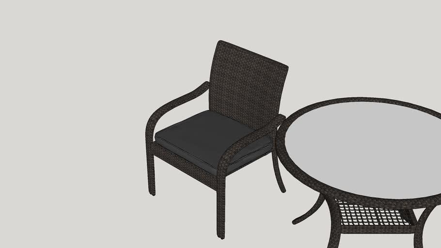 Darden 5 Piece Dining Set with Cushions