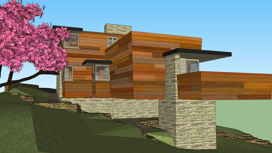 Современный дом на берегу моря