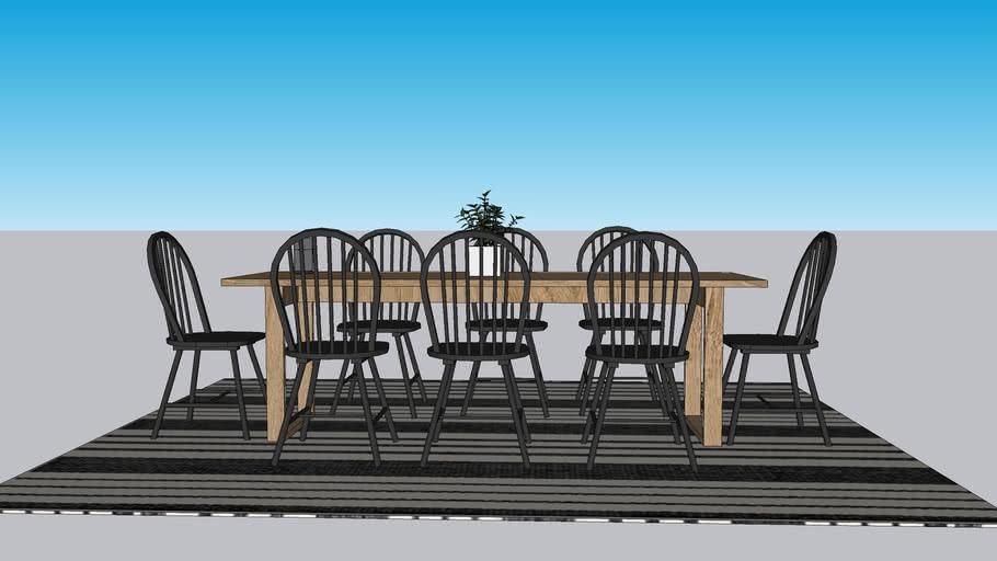 farmhouse dining room set
