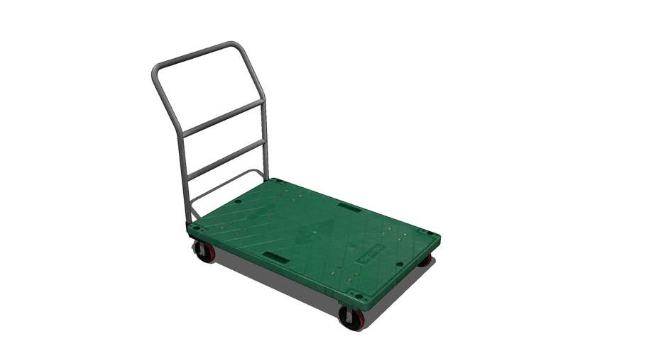 green plastic Trolley  초록 운반카트