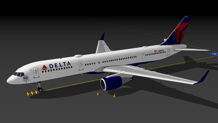 "Delta Air Lines 757-2Q8(WL) ""New York Yankees/#42 Mariano Rivera"" (2020)"