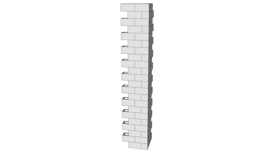CMU wall corner