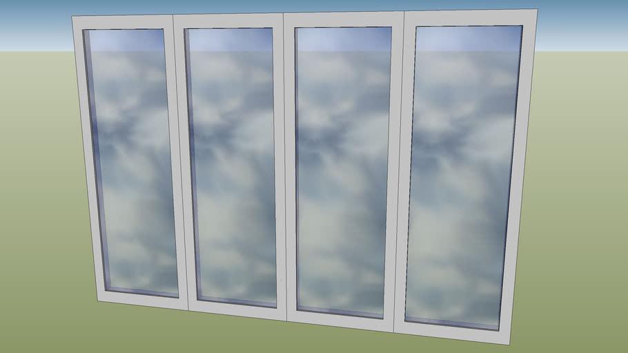 4 pane bifold doors closed