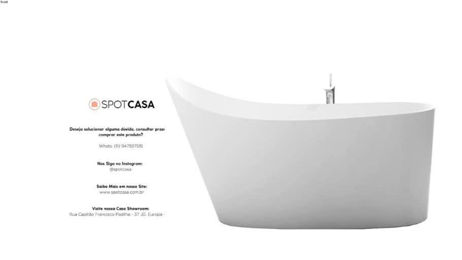 Banheira de Imersão Floripa 157cm Branca Sabbia