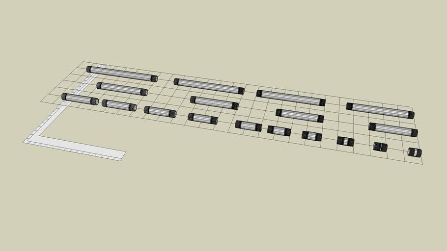 3/4 inch Steel Sch 40 Nipple NPT Fittings