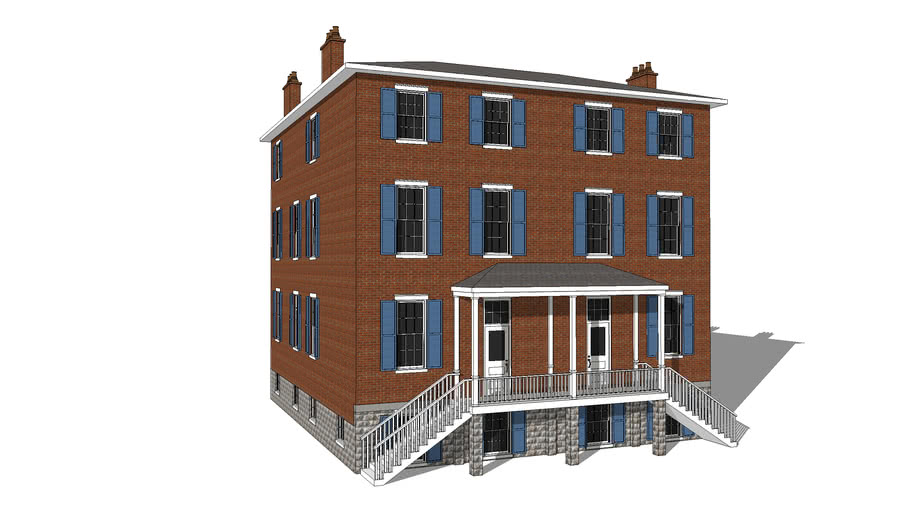 Standalone Greek Revival-Style Tenement
