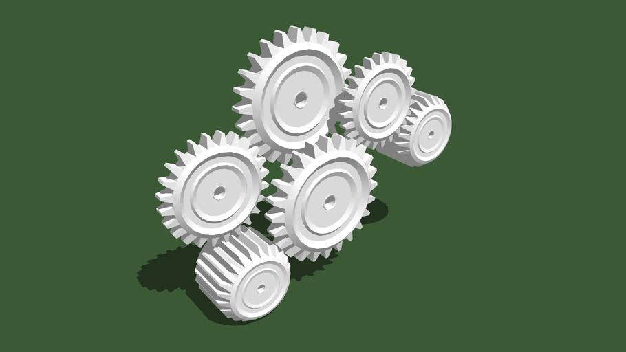 Mécanisme roues dentées n°1