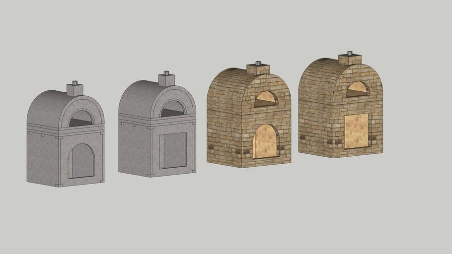 Stone Age Amerigo™ Wood Fired Pizza Oven & Cabinet Kits