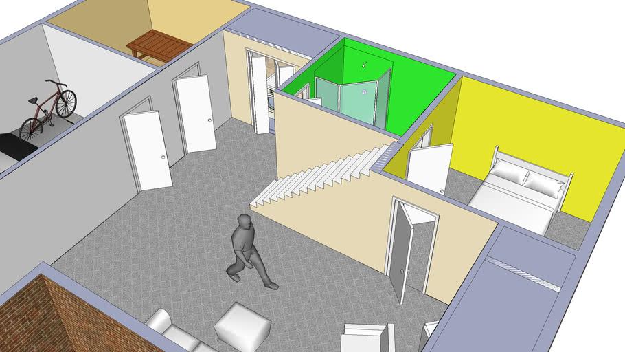 Small House Basement 3d Warehouse