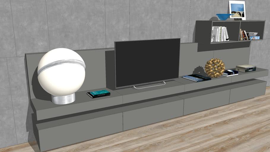 Mueble de Televisión suspendido - Suspended TV cabinet