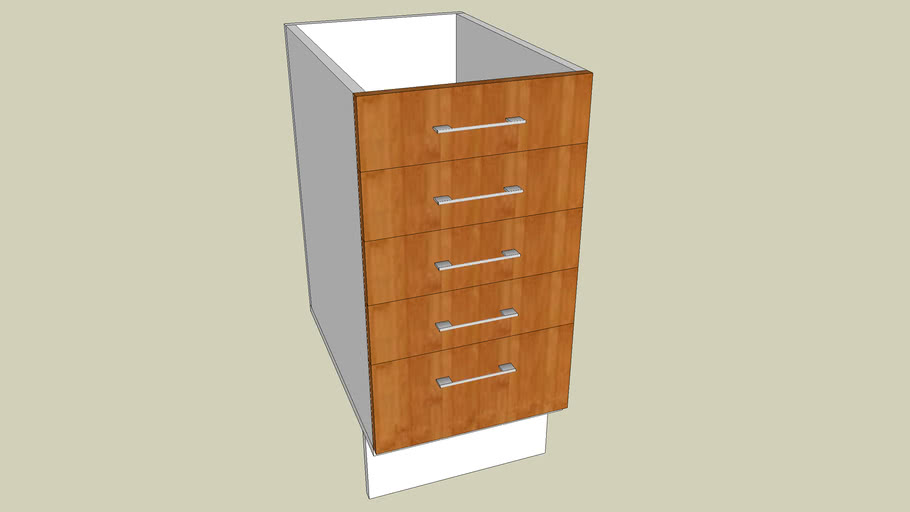IKEA Faktum - armario 5 gavetas 40cm largura