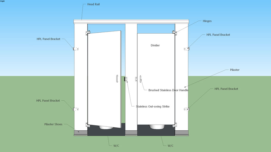 Commercial Restroom Partition