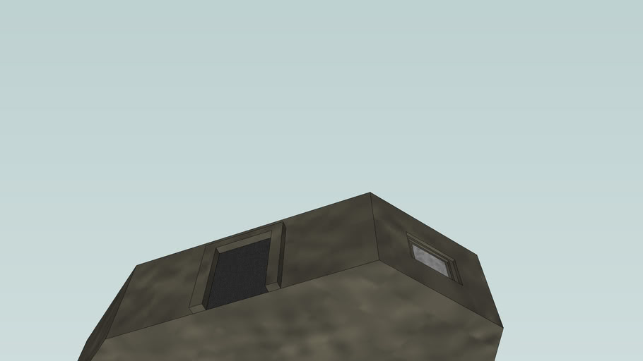 WW2 Japanese AA gun Bunker
