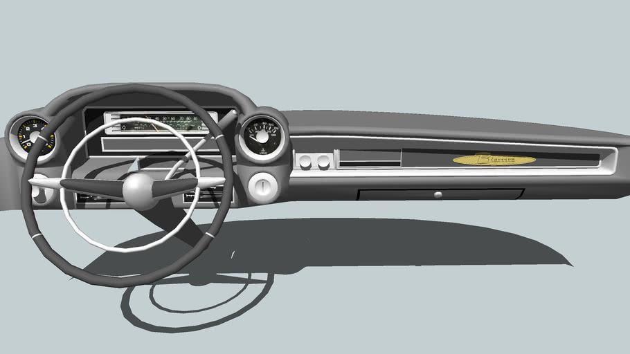 59Cadilac Classic car dashboard