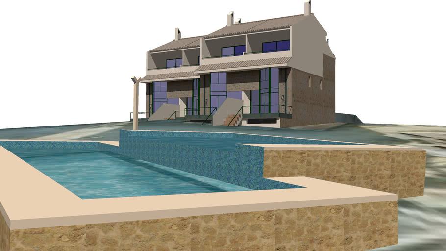 La loma de Guardiola. 6º bloque y piscina. San Juan. Alicante