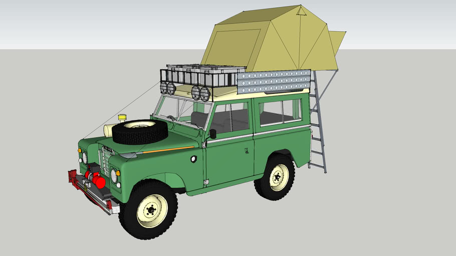 land rover 88 + rooftent