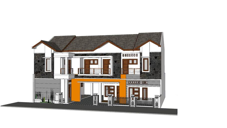 rumah tinggal 1 lantai  + kost