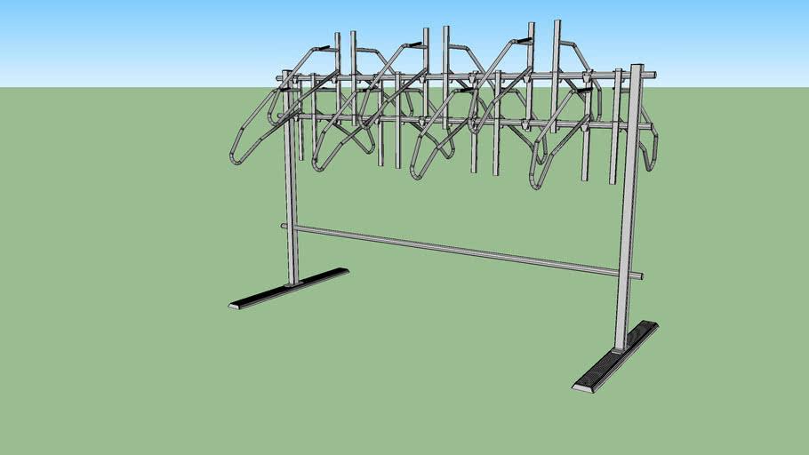 "Vertical+ No Scratch® Floor System Bike Rack - 14 Bike Double Sided - 16"" Spacing"