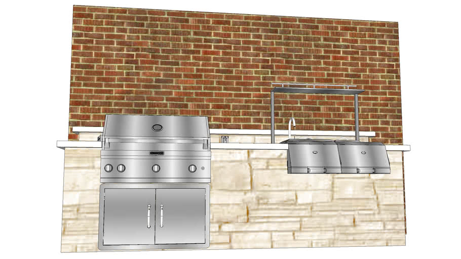 10' Outdoor Kitchen