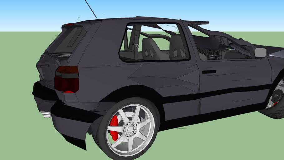 Volkswagen golf mkIII Wrecked (UD)