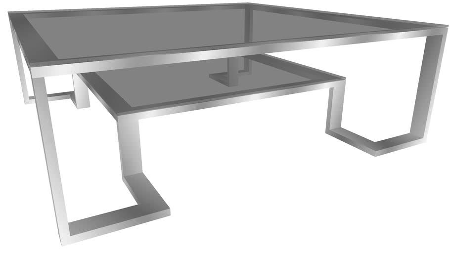 82598 Coffee Table Silver Rush 120x120cm