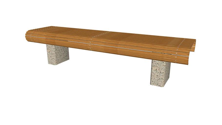 Flat Wrap Wood Bench - Detailed