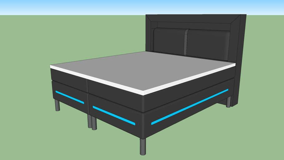 Boxspring LED bed 180x200