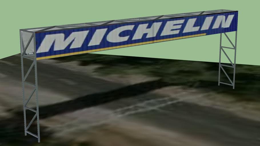 portique publicitaire circuit du Mans 72