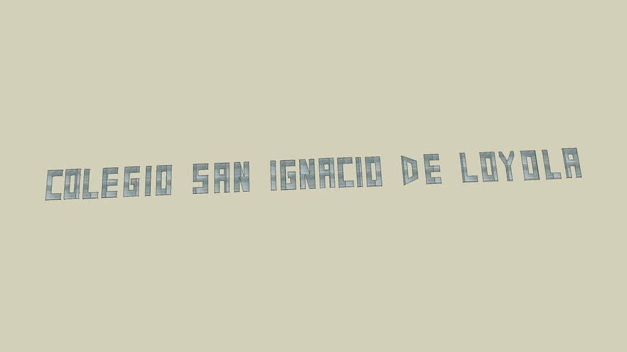 LETRERO SAN IGNACIO DE LOYOLA