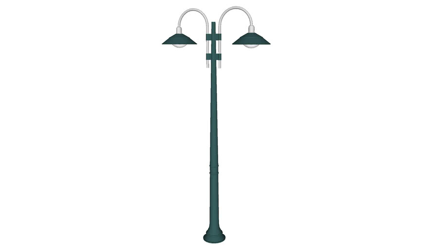 Double Arch Lamp Post - Detailed