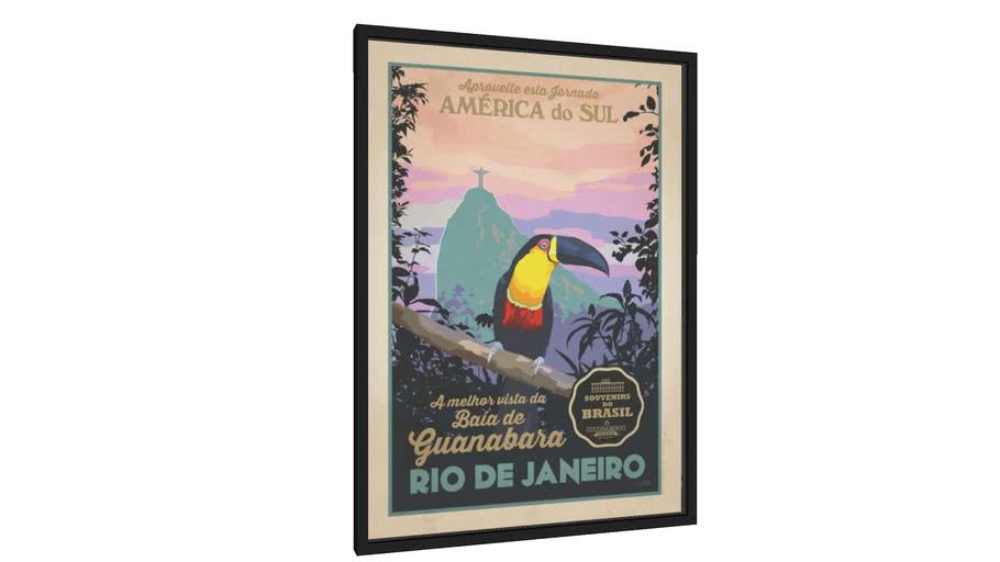 Quadro Tucano - Galeria9, por Cocobamboo Artwork