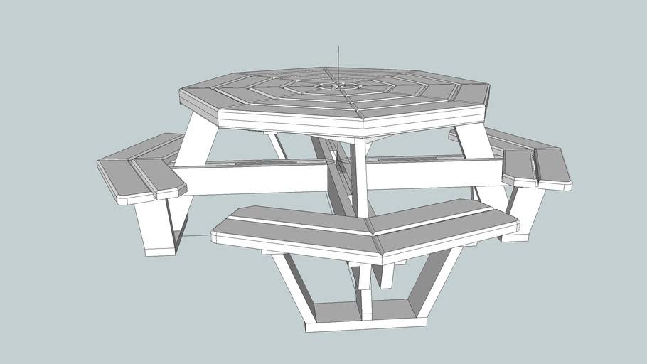 Hexagon Picnic Table