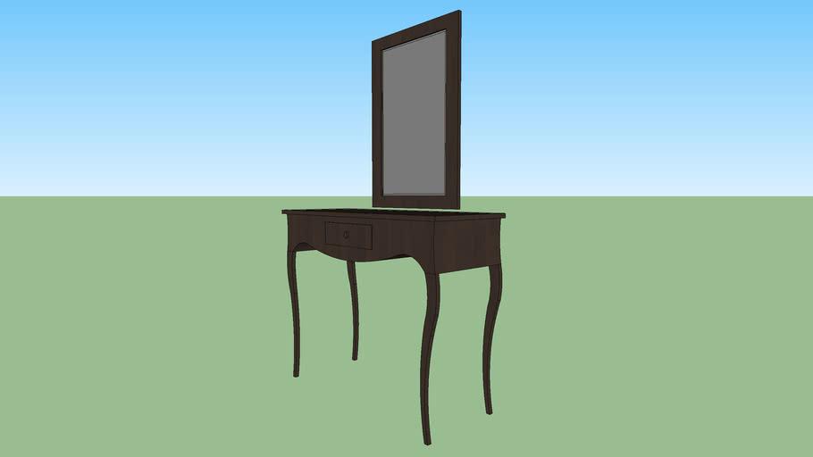 Toaletka z lustrem WENGE