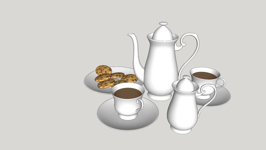 Utensílios de cozinha - Jogo de xícaras