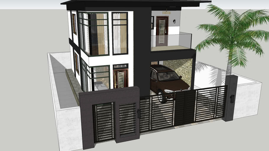 Modern Two Story House By Adlao 3d Warehouse