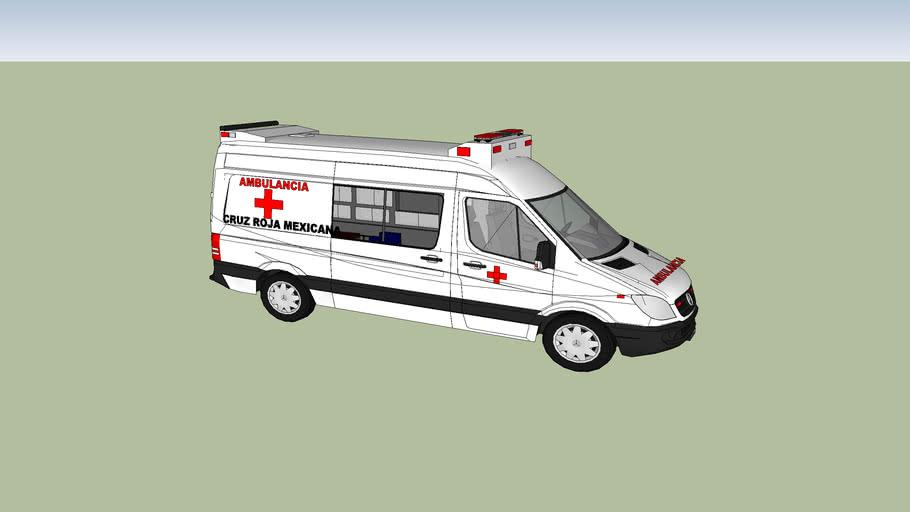 ambulancia de la cruz roja mexicana de san luis potosi