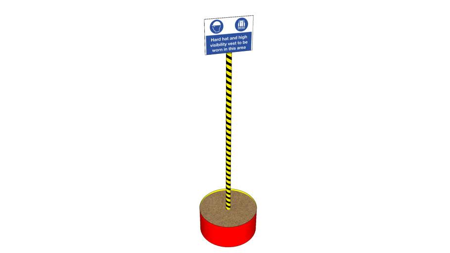 Safety Sign Pole