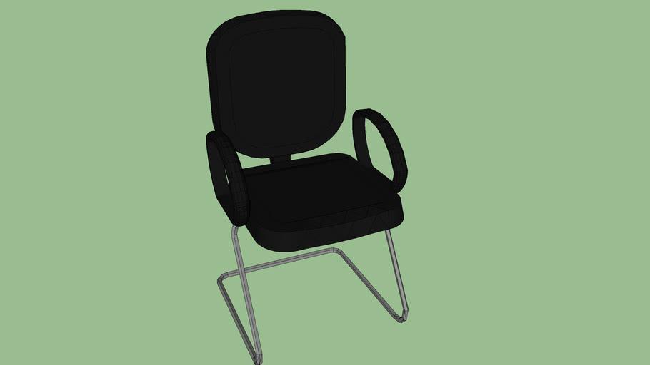 cadeira fixa interlocutor pés cromados