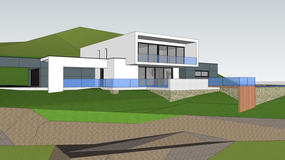 Maison Moderne A Flanc De Colline 3d Warehouse