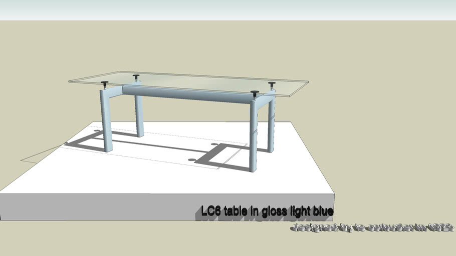 LC6 table in gloss pale blue