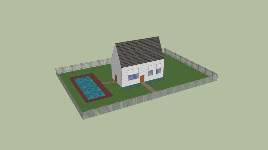 House in yard