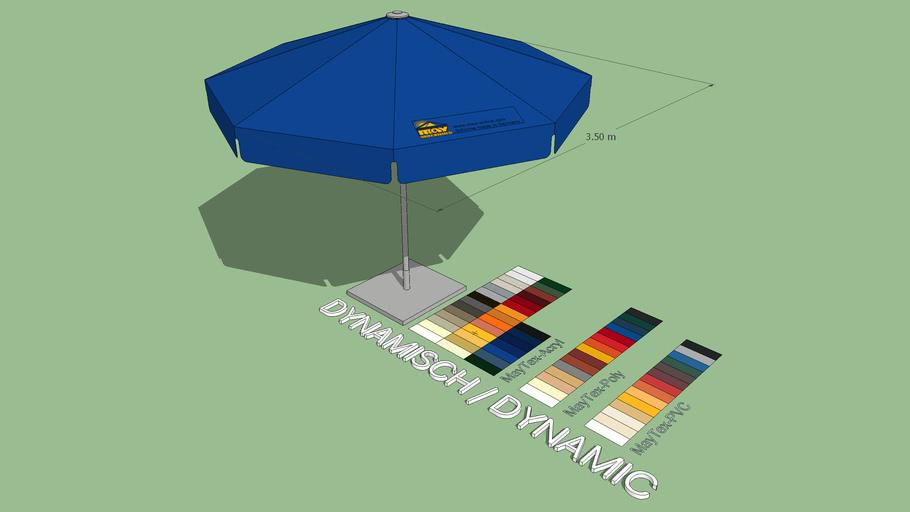 May Filius 3.5m Round Market Umbrella