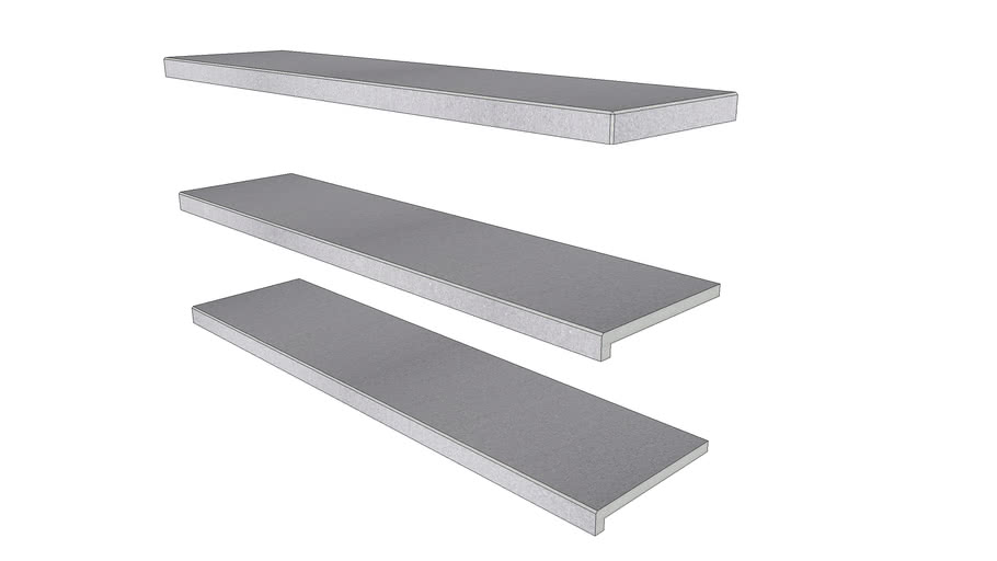 Urban Grey Porcelain Step 1194 x 290 with 40mm Downstand