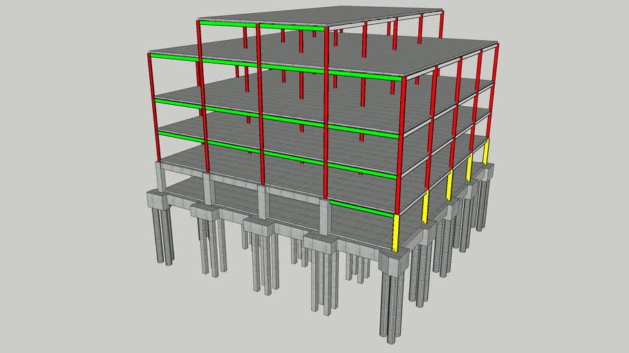 5 Storey Concrete & Steel framed Building