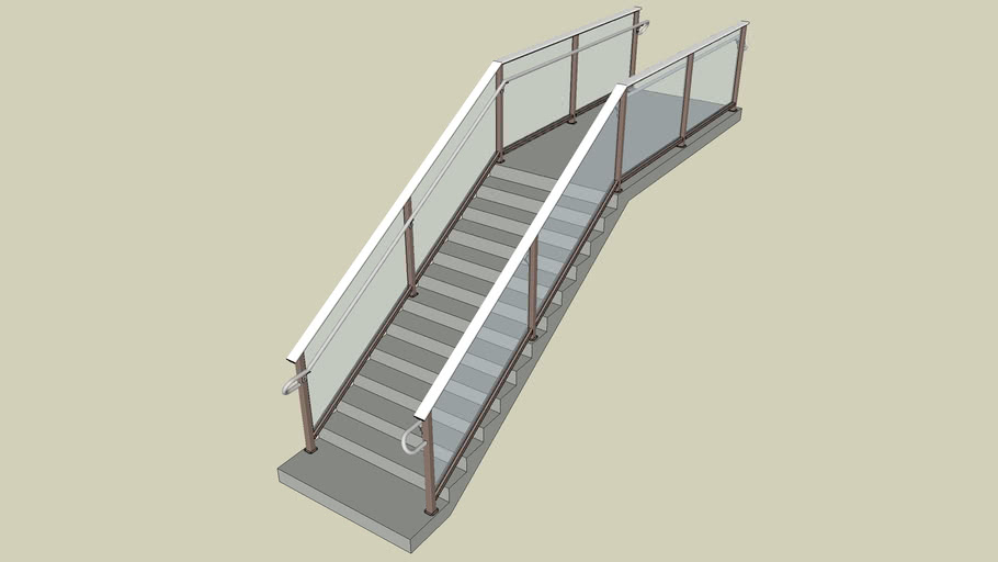 04 DesignRail® Aluminum Railing System with Glass Infill - Stairs