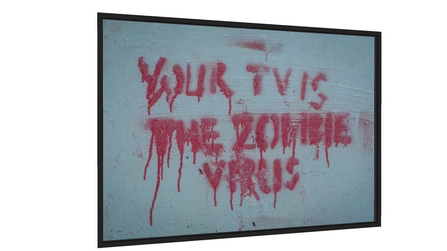 Quadro TV Zombie - Galeria9, por Eduardo Paviani