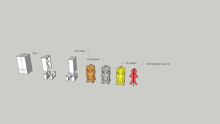 3D Stickman